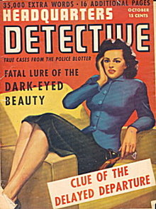 Oct 1943 Headquarter Detective Pulp Magazine