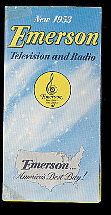 1953 Emerson Television & Radio Advertising Pamphlet