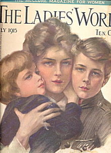 July 1915 'The Ladies World' Philip Boileau Cover