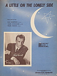 1944 'A Little on the Lonely Side' Sheet Music