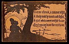 1906 Summer Poem Lovers Leather Postcard