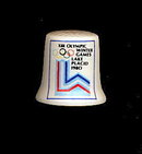 1980 Lake Placid Olympics Souvenir Porcelain Thimble