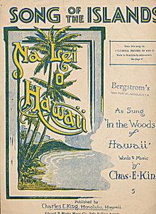 1915 'Song of the Islands' Hawaii Sheet Music
