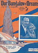 1927 'Our Bungalow of Dreams' Sheet Music