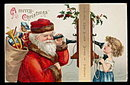 1906 Ellen Clapsaddle Santa Claus with Girl Postcard