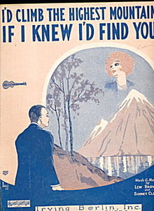 1926 'I'd Climb the Highest Mountain..' Sheet Music
