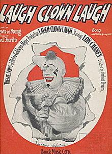 1928 'Laugh Clown Laugh' Lon Chaney Sheet Music