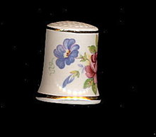 Lovely Trent China Floral Porcelain Thimble #2