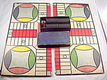 """""""Royal Game of Parcheesi"""" with Board ca 1917"""