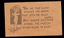"""1906 """"Cupid Strikes..."""" Love Leather Postcard"""