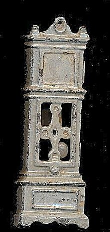 Ca 1920s Kilgore Cast Iron Dollhouse Grandfather Clock