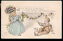 Lovely G & B Children Christmas 1915 Postcard