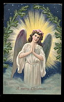Gorgeous German Christmas Angel 1910 Postcard