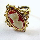 Lovely Avon Faux Cameo Ladies Ring