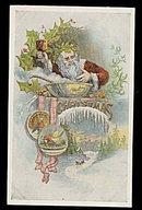 1907 Santa Claus/Father Christmas w Goblet Postcard