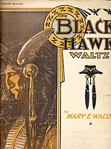 1908 'The Black Hawk Waltz' Native American Sheet Music