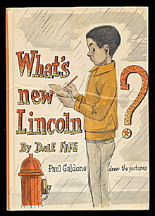 1970 'What's New Lincoln?' Dale Fife Childrens Book