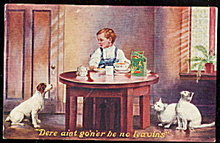 EGG-O-SEE 1907 Advertising Postcard w Animals
