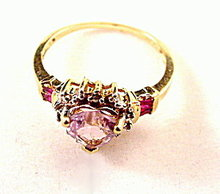 Vintage Pink Sapphire 10kt Gold Ladies Ring