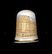 Vintage Harrods Store England Porcelain Thimble