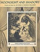 'Moonlight & Shadows' Dorothy Lamour 1936 Sheet Music