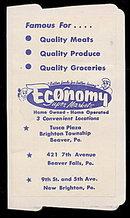 1940s Economy Super Market Beaver PA Needle Case