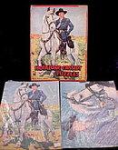 1950s Milton Bradley Hopalong Cassidy 3 Puzzles w Box