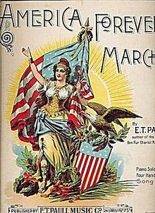 1898 'America Forever! March' Patriotic Sheet Music