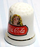 Coca Cola Advertising Porcelain Thimble