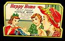 """1940s """"Happy Home"""" Needle Case"""