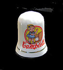 Vintage Campbell's Kid Advertising Porcelain Thimble