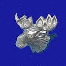 Vintage Moose Sterling Silver Fraternal Lapel Pin