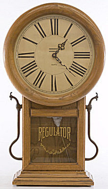 "Early 1900s 25"" Vanguard Regulator Clock"