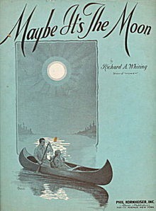 "1931 ""Maybe It's the Moon"" Sheet Music"
