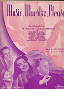"1938 ""Music, Maestro, Please!"" Sheet Music"