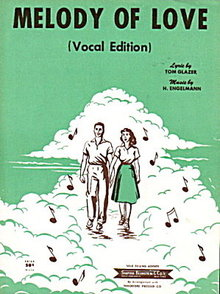 "1954 ""Melody of Love"" Sheet Music"