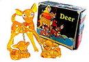 1940s-1950s Hard Plastic Christmas Deer in Original Box