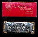 Early 1900s W. Kratt Pitch Pipe in Case