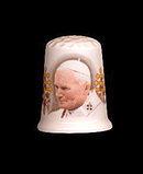 Vintage Pope John Paul Souvenir Thimble