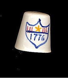 Vintage Toledo OHIO 1776 1976 Souvenir Thimble