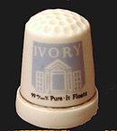 Vintage Ivory Soap Porcelain Thimble