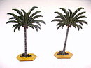 2 Vintage Lead Palm Trees for Display, Other