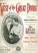 'West of the Great Divide' Metro Goldwyn Sheet Music