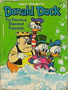 Walt Disney Donald Duck & Diamond Fountain Little Book