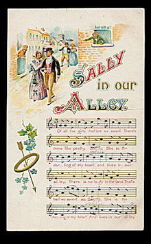 'Sally in Our Alley' Song 1907 Lyrics Postcard