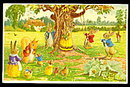 """""""The Swing"""" by Racey Helps Vintage Postcard"""