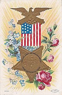 Grand Army 1860-1866 Decoration Day Postcard