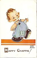 'Happy Chappie' Signed Mabel Lucie Attwell Postcard