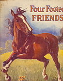 1948 Linenette 'Four Footed Friends' Childrens Book