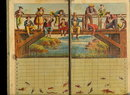 "1870 ""Game of Fishing"" Game Board"